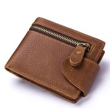 Мужской кошелек KAVIS, коричневый П2241