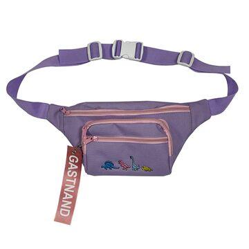 Женская поясная сумка, бананка, фиолетовая П2245
