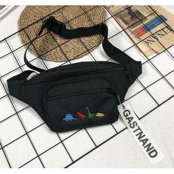 Женская поясная сумка, бананка, черная П2246