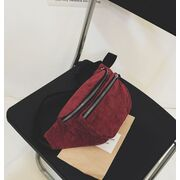 Женская бананка, сумка, красная П2247