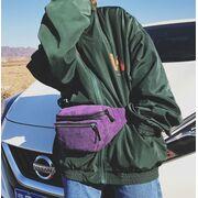 Поясные сумки - Женская бананка, сумка, желтая П2248