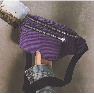 Женская бананка, сумка, фиолетовая П2249