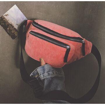 Женская бананка, сумка, розовая П2250