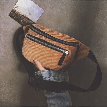 Женская бананка, сумка, коричневая П2251