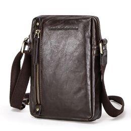 "Мужская сумка на плечо ""Contact'S"", коричневая 2254"
