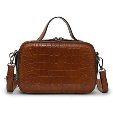 Женская сумочка на плечо, коричневая П2260