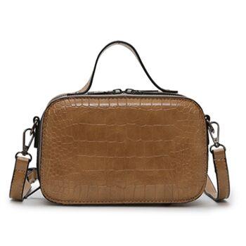 Женская сумочка на плечо, коричневая 2262