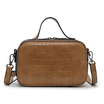 Женская сумочка на плечо, коричневая П2262