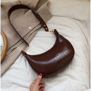 Женская сумка на плечо, коричневая П2270