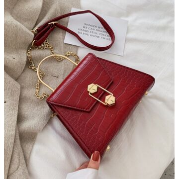 Женская сумка клатч, красная П2275
