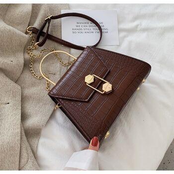 Женская сумка клатч, коричневая П2276