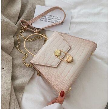 Женская сумка клатч, бежевая П2278