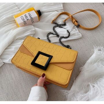 Женская сумка клатч, желтая П2279