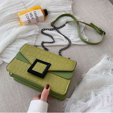 Женская сумка клатч, зеленая П2280
