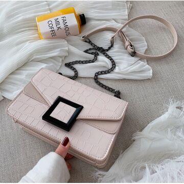 Женская сумка клатч, бежевая П2282