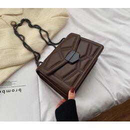 Женская сумка клатч, коричневая П2283
