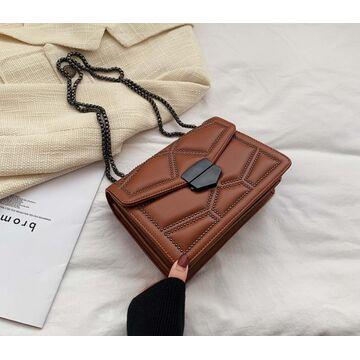 Женская сумка клатч, коричневая П2285