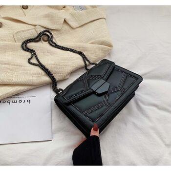 Женская сумка клатч, черная П2286