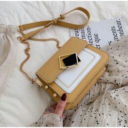 Женская сумка клатч, желтая П2287