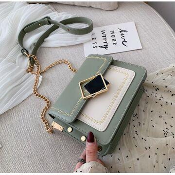 Женская сумка клатч, зеленая П2289