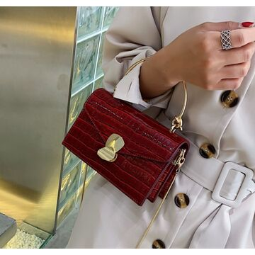 Женская сумка клатч, красная П2295