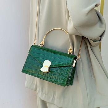 Женская сумка клатч, зеленая П2296