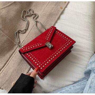 Женская сумка клатч, красная П2298