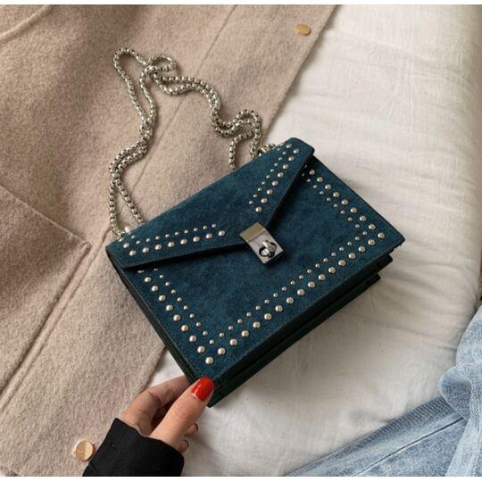 Женская сумка клатч, синяя П2300