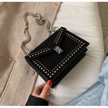 Женская сумка клатч, черная П2301