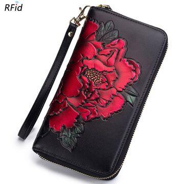 Женский кошелек, красный П2302