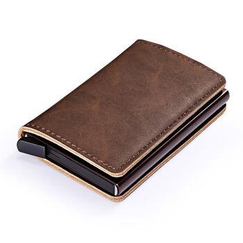 Визитница RFID,коричневая П2312