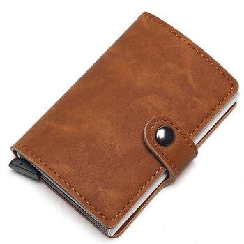 Визитница RFID,коричневая П2315