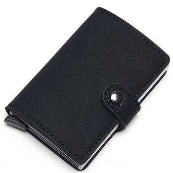 Визитница RFID,черная П2316