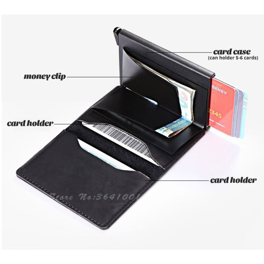 Визитницы - Визитница RFID,черная П2316