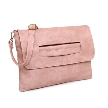 Женская сумка клатч, розовая П2371