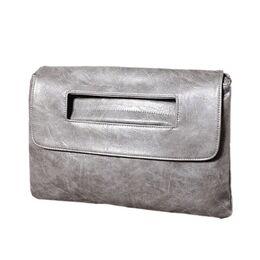 Женская сумка клатч, серая П2372
