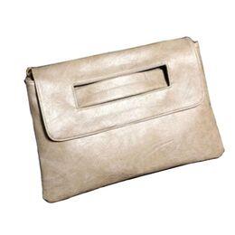 Женская сумка клатч, бежевая П2373
