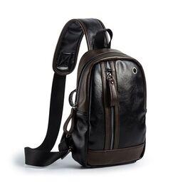 Мужская сумка слинг, черная 2407