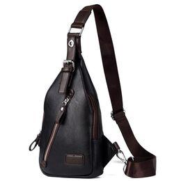 Мужская сумка слинг, черная 2408