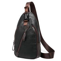 Мужская сумка слинг, черная 2411