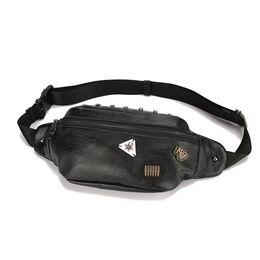 Мужская сумка на пояс, черная 2413