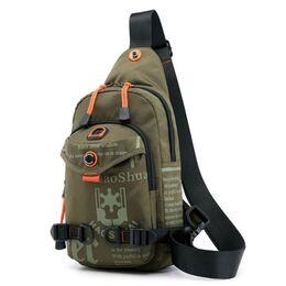 Мужская сумка на плечо, зеленая 2418