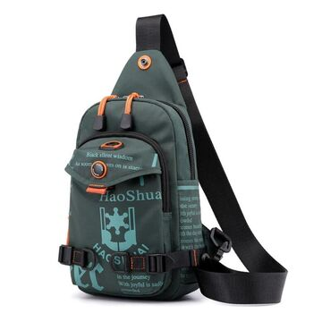 Мужская сумка на плечо, зеленая П2419