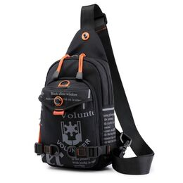 Мужская сумка на плечо, черная 2421