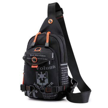 Мужская сумка на плечо, черная П2421