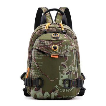 Мужская сумка-рюкзак, зеленая П2423