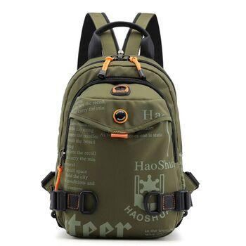 Мужская сумка-рюкзак, зеленая П2424
