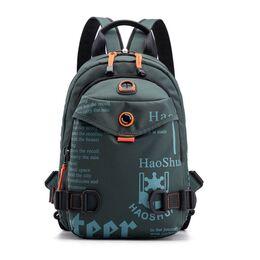 Мужская сумка-рюкзак, зеленая 2425