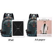 Мужская сумка-рюкзак, черная П2426