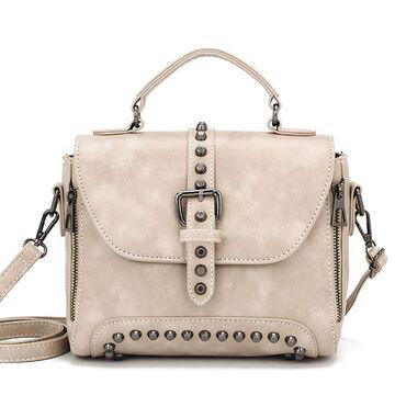 Женская сумка, бежевая П2428